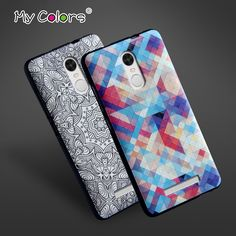 High Quality Soft TPU 3D Relief Print Back Cover Case For xiaomi Redmi Note 3 / Note 3 Pro / Note 3 Pro Prime Phone Bag