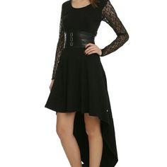 d1af776ce19 Royal Bones By Tripp Black Lace Sleeve Salem Dress  Black dress with hi-lo  cut