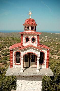 Orthodox Roadside Shrine   Chios Island, Greece