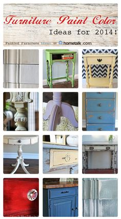 Looking forward to DIY projects in 2014, here are some paint color ideas for your upcoming furniture makeovers, whether you're painting a desk, nightstand, end table dresser or dining room table. I've included chalk paint colors and others that are popular to give you ideas on what direction to go …
