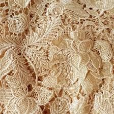 Wedding Lace Fabric Rose Lace Fabric Guipure Lace by LaceNTrim 3d Rose, Rose Lace, Wedding Fabric, Wedding Lace, Wedding Dress, Irish Crochet, Crochet Motif, Gold Lace Fabric, Metallic Lace