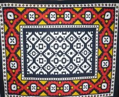 Printed cloth Samakaka worn by men and women of the Herero people of Angola