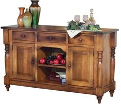 You'll save on every piece of furniture at Amish Outlet Store! We custom make every item, and you can get the 3-Drawer Harvest Buffet in Oak with any wood and stain.