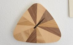 Horloge du week-end en bois faite main