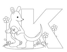 Animal Alphabet Letter K for Kangaroo Here's a simple Animal