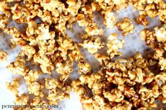 Easy Homemade Caramel Popcorn. This recipe for easy caramel popcorn really is tastes perfect! This crunchy homemade caramel popcorn recipe is the best!
