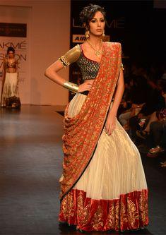 Gorgeous enough for a wedding garba.   Designer: Shyamal & Bhumika