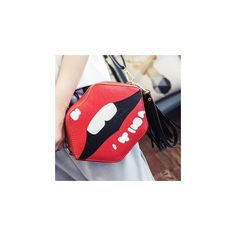 Lip Crossbody Bag ($21) ❤ liked on Polyvore featuring bags, handbags, shoulder bags, accessories, red handbags, red cross body purse, red lips handbag, pu handbags and red cross body handbags