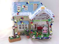 sylvanian families CATH KIDSTON DECORATED HOUSE RIVERSIDE LODGE FULLY FURNISHED | eBay