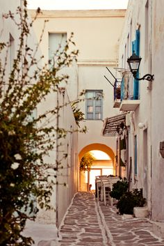 On the way to the sunset.. Old Town, #Parikia #Greece #Paros
