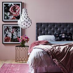 Amelia Queen Bedhead Grey Linen