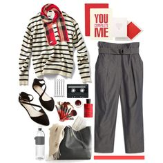 A fashion look from March 2015 featuring MANGO capris and Burberry scarves. Browse and shop related looks.