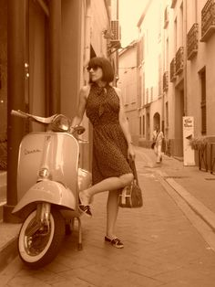 vespas and cute dresses