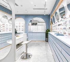 Shanghai Shop — ALEKSA studio Boutique Interior, Boutique Design, Shop Interior Design, Retail Design, Store Design, Boutique Cuir, Shanghai, Eyewear Shop, Interior Design Presentation