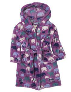Hatley Patterned Elephants Cosy Bathrobe – Juicytots £30