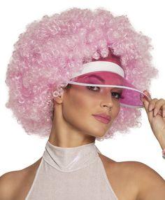 Pinkki+afro+visiirillä Afro, Diana, Impreza, Party, Eyes, Material, Pink, Aperture, Carnavals
