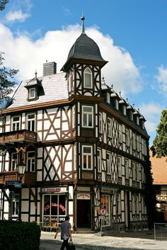 Streets of Wernigerode in the Harz Mountains - Germany