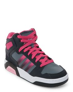 Adidas (Kids Girls) Onyx & Pink BB9TIS Mid Sneakers
