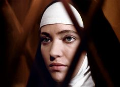 Anna Karina in La Religieuse directed by Jacques Rivette, 1965