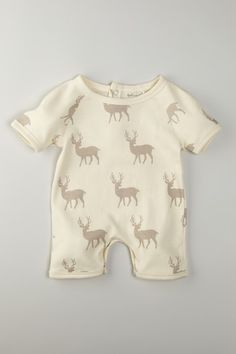 Organic Cotton Short Sleeve Romper