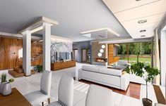 Projekt domu Willa z basenem Loft, Bed, Outdoor Decor, Table, House, Furniture, Design, Home Decor, Decoration Home
