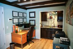 office wet bar. Fine Bar Home Office And Wet Bar Makeover Throughout