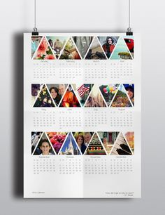 Calendar by Jamie Knudsen, via Behance