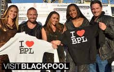 Liberty X from the Big Reunion love our Blackpool hoodies backstage at Switch-On 2014