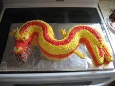 Chinese Dragon Birthday Cake on Cake Central
