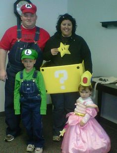 Family Costumes.... Super Mario Brothers
