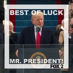 Donald Trump is now the 45th President of the United States  #Trump #POTUS #GoodLuck