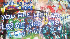 The continuously evolving John Lennon Wall in Prague's Mala Strana District. In 2015 this wall was completely whitewashed by an arts protest group. John Lennon Wall Prague, Prague Attractions, Wildstyle, Graffiti Wall, Cool Places To Visit, History, Prague Czech, Czech Republic, Group