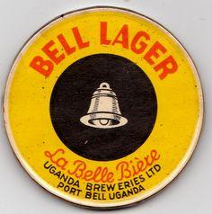 Bell Lager, Uganda Pint Of Beer, Beer Coasters, Beer Labels, Uganda, Brewery, Mirrors, Spirit, African, Branding
