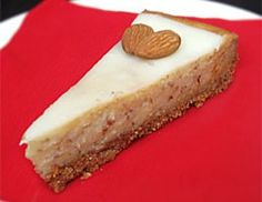 Almond Cheesecake - learn more about the great baking recipes from Solo Foods - a leader in pie, cake and pastry fillings! Almond Cheesecake Recipe, Cheesecake Recipes, No Bake Desserts, Just Desserts, Dessert Recipes, Baking Fails, Crescent Cookies, Thanksgiving Desserts Easy, Almonds