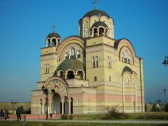 Serbian temple in town Apatin, Serbia. finished 2008.