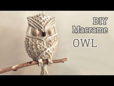 How to make macrame owl wall hanging step-by-step DIY tutorial - part of 2 - Free Online Videos Best Movies TV shows - Faceclips Macrame Owl, Micro Macrame, Macrame Jewelry, Macrame Wall Hanging Patterns, Macrame Patterns, Diy Instagram, Owl Quilts, Baby Quilts, Owl Bags