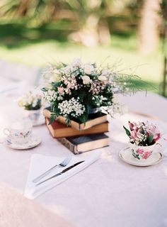 Garden Inspired Wedding Centerpieces