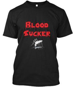 Bloodsucker  Black T-Shirt Front
