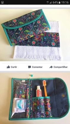 Best 10 Kit Higiene Bucal com Toalhinha❤ (acompanha escova + creme dental + toalhinha) – SkillOfKing. Sewing Hacks, Sewing Tutorials, Sewing Patterns, Sewing Tips, Sewing Ideas, Fabric Crafts, Sewing Crafts, Sewing Projects, Sewing To Sell