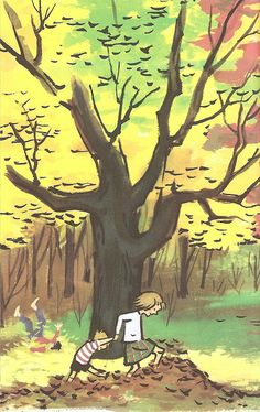 """""""A Tree Is Nice"""" by Janice May Udry. Illustrations by Marc Simont. Harper Collins (NY), 1956."""