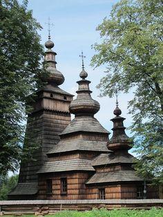 Greek - Catholic Church in Kwiatoń, Poland. The example of Lemko architecture.