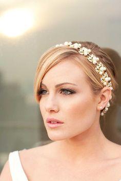 Jacqueline  Stunning Golden Rhinestone and by ClayBouquetShop, $89.00