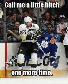 """Not a Sid fan, but I like this meme. I always tell my son, """"Don't let 'em in your head."""" but he does his fair share of being chirpy too. Pens Hockey, Hockey Cards, Hockey Teams, Hockey Players, Ice Hockey, Hockey Stuff, Hockey Mom, Funny Hockey Memes, Hockey Quotes"""