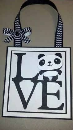 Love-panda. Wall decor. Created 10-10-12