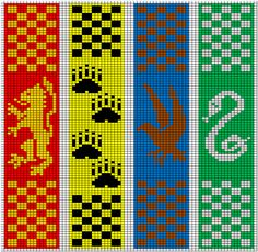 Harry Potter Knitting Patterns - - knitting is as easy as . Harry Potter Knitting Patterns - - knitting is as easy as 3 Knitting boils down to three essential ski. Tricot Harry Potter, Cross Stitch Harry Potter, Harry Potter Bookmark, Harry Potter Crochet, Harry Potter Scarf Pattern, Bead Loom Patterns, Bracelet Patterns, Beading Patterns, Embroidery Patterns