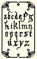 gothic alphabet free cross stitch