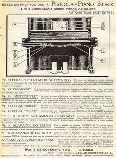 Iba Mendes: Anúncios antigos de Pianos