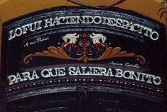 Fileteado cartel   Fileteado sur la façade d'une quincaillerie.