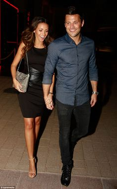 Perfect couple: Michelle Keegan and Mark Wright were the picture of glowing happiness as they stepped out for dinner at Toro Toro restaurant at the Grosvenor House Hotel in Dubai on Friday