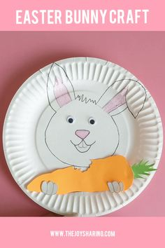 Grab the FREE printable template to make this easy Easter craft with preschool and kindergarten kids. via crafts kids printable How to Make Paper Plate Bunny Craft? Easter Crafts For Toddlers, Bunny Crafts, Easter Crafts For Kids, Toddler Crafts, Preschool Crafts, Bunny Templates, Printable Crafts, Easter Printables, Printable Tags
